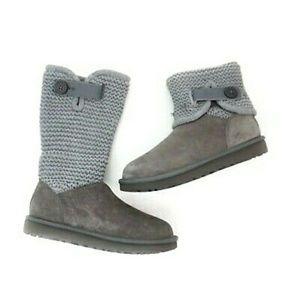 UGG Gray Shaina Sweater-top Boots